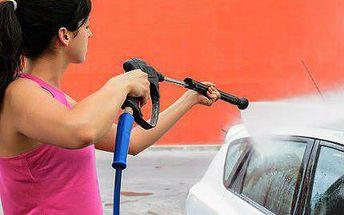 Ruční mytí vozidla s tepováním a čištěním interiéru