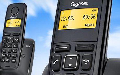 Značkový bezdrátový telefon Siemens Gigaset A120 za bezkonkurenční cenu
