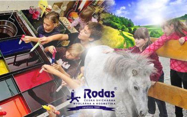 RODAS - VLASTNORUČNÍ VÝROBA - SVÍČKY, KOUPELOVÁ SŮL nebo MALOVÁNÍ SVÍCNŮ! Zábava i pro děti!