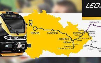 Kredit na vlaky LEO Express (500 Kč jen za 299 Kč)