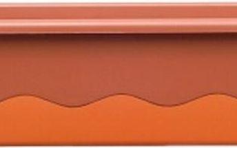 Samozavlažovací truhlík Mareta 60 cm, oranžová