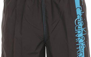 Pánské plavkové šortky krátké 58283W4-černé - Calvin Klein Barva: černá, Velikost: XL