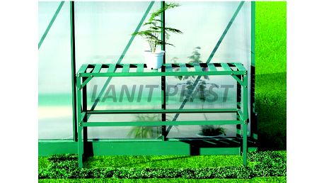 AL regál jednopolicový zelený LanitGarden
