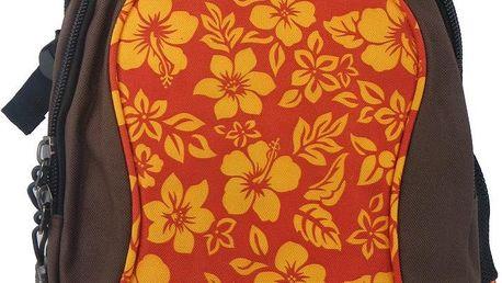 Batoh New flowers oranžová