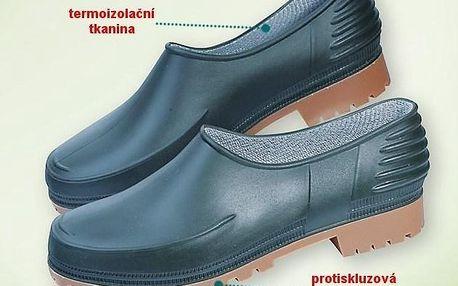 Zahradní boty z absolutně vodotěsné a snadno čistitelné pryže