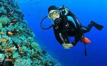 """Kurz potápění """"OPEN WATER DIVER"""" s přístrojem a certifikací"""