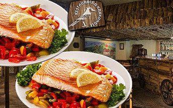 2x losos s grilovanou zeleninou v Havířově U Krakonoše