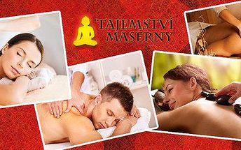 Odpočiňte si na masáži - na výběr máte 6 druhů