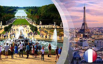 Paříž a Versailles na 4 dny - 12 termínů napříč rokem 2015
