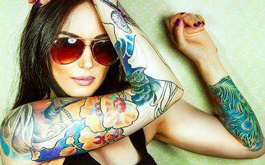 Originální tetování o velikosti 10x10 cm