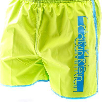 Pánské plavkové šortky dlouhé 58284W4-zelené - Calvin Klein Barva: zelená, Velikost: XXL