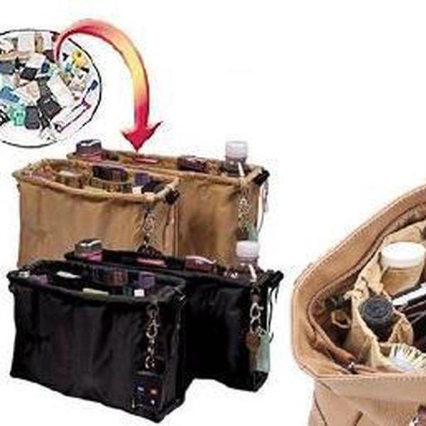 Organizér do kabelky - set 2ks. Pro uspořádání každé kabelky. Dvě různé velikosti.