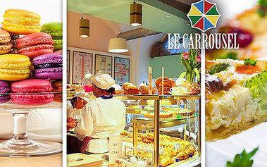 Makronky, quiche či káva v Le Carrousel
