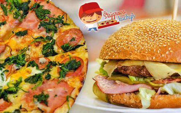 Pizza, spaetzle nebo Bacon burger