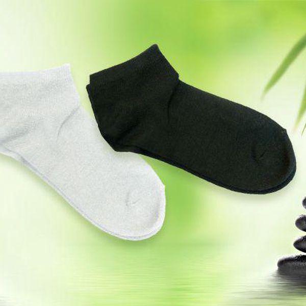 16 párů kotníkových ponožek z bambusového vlákna ve 3 různých barvách
