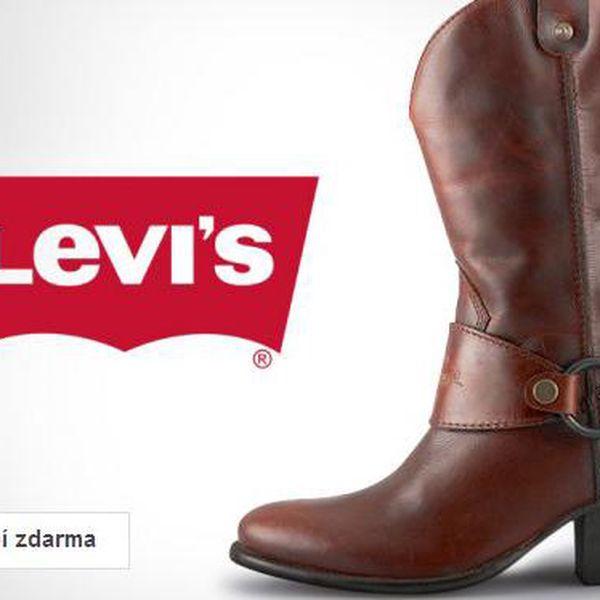 Dámské značkové kozačky Levis – doručení zdarma