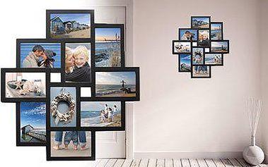 Designový nástěnný fotorámeček pro 10 fotografií