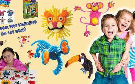 Bendaroos, kreativní sada pro děti i rodiče! Vytvořte si 3D modely nebo plošné obrázky zvířátek, domečků, panáčků a dalších tvarů ze speciálních provázků, které drží tvar, drží na zdi i oknu a zároveň ho můžete použít znovu a znovu!