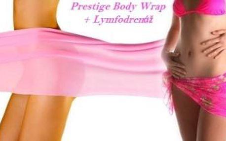 UBERTE CENTIMETRY a zvyšte si sebevědomí! Tělový zábal Prestige Body Wrap + lymfodrenáž.