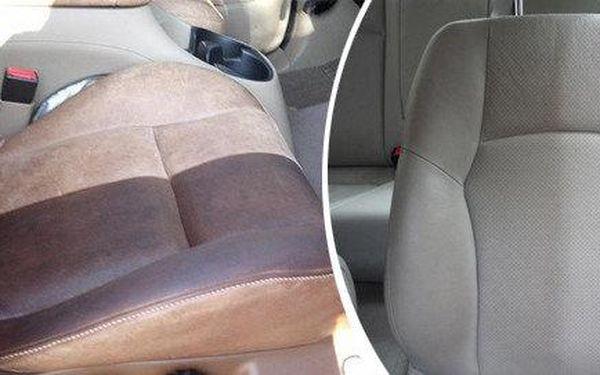 Důkladné tepování sedadel vozidla
