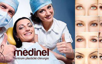 Poukaz za 990 Kč na slevu: Plzeň - Plastika obou víček na jednom oku na klinice Medinel!Starat se o vás bude renomovanýplastický chirurg MUDr. Bouda!Osvěžte svůj pohled aomládněte až o 10 let!