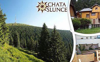 Pronájem chaty Slunce v Jeseníkách až pro 12 lidí