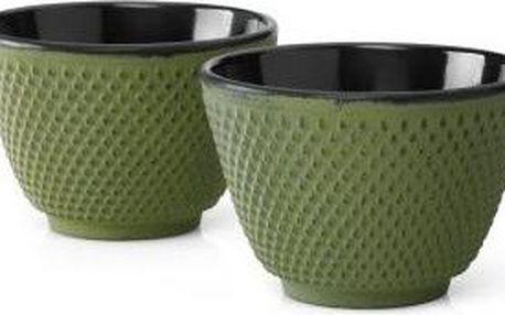 Litinové hrnečky Xilin, 2 ks, zelené