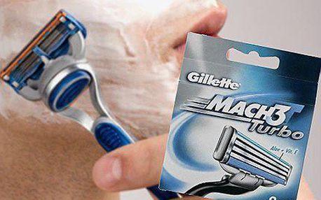 Hladké oholení s hlavicemi Gillette Mach 3 Turbo!