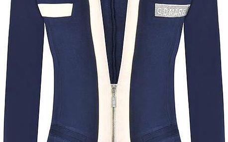 Dámské modré sako se zipem Giorgio Di Mare