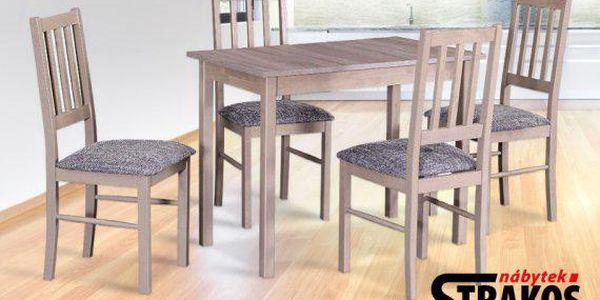 Dřevěný jídelní set – stůl a 4 židle
