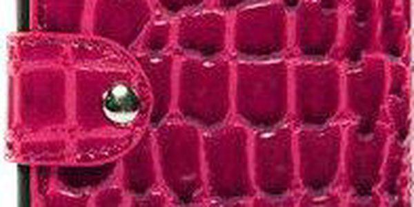 Luxusní růžové pouzdro na Samsung Galaxy Note i9220 v efektu krokodýlí kůže