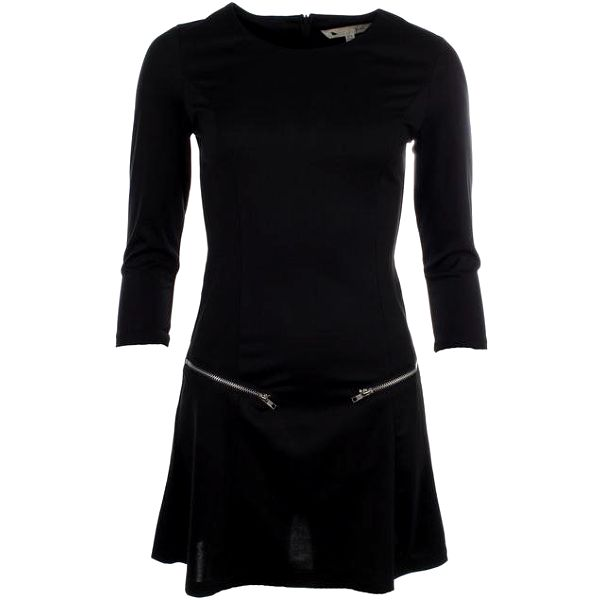 Dámské černé šaty se zipy Yumi