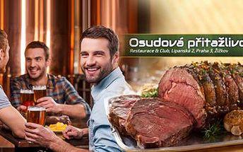 400g masa ROASTBEEF s PŘÍLOHOU a TATARSKOU OMÁČKOU pro 2-3 osoby v restauraci Osudová Přitažlivost!