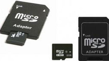 Paměťová karta micro SD 32 GB + adaptér!