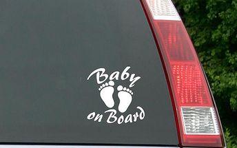 Samolepka na auto - Baby on board