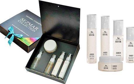 Luxusní dárková sada Jantar s 5 kosmetickými výrobky pro dokonalou pleť