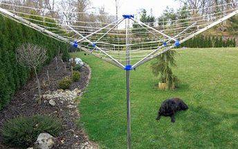 4ramenný velký hliníkový zahradní sušák na prádlo!