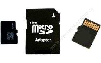 Paměťová karta microSD 32 GB + adaptér