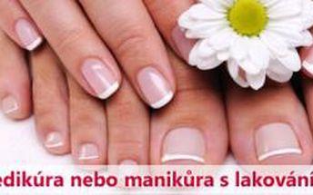 Prémiová wellness pedikúra nebo manikúra včetně la...