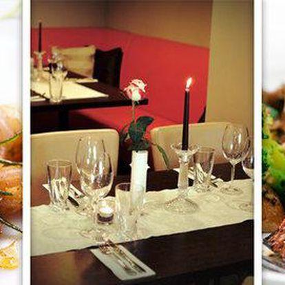 4chodové menu pro dva v restauraci Dolce Vita