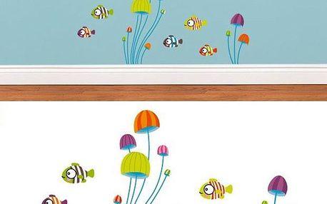 Samolepící dekorace - Malé rybičky