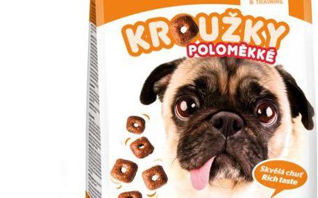 Akinu Kroužky pro psy poloměkké 4 x 800g