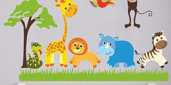 Samolepka na zeď Safari, 90x60 cm