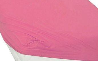 BedTex jersey prostěradlo růžová