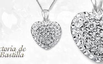 Náhrdelník Victoria de Bastilla: řetízek s přívěskem se zirkonovými krystalky!
