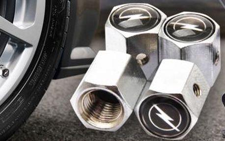 Sada čepiček ventilků na auto z nerez oceli: ochrana proti krádeži. 12 značek.