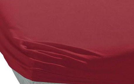 TipTrade BedTex jersey prostěradlo vínová, 90 x 200 cm