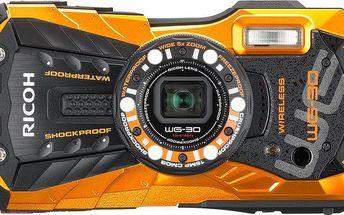 Outdoorový fotoaparát - Ricoh WG-30 Wi-Fi Flame Orange