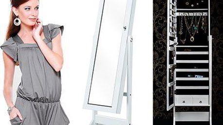 Luxus pro ženy: Stojanová šperkovnice se zrcadlem