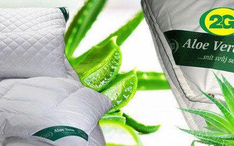Přikrývky a sady s úpravou Aloe Vera